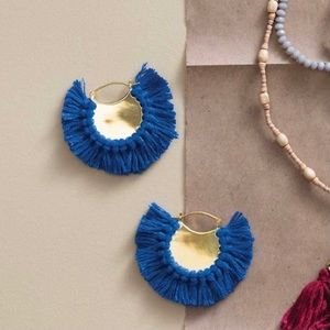 Noonday Collection Blue Fringe Deluge Earrings